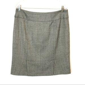 Ann Taylor Loft Grey Tweed Wool Skirt -Petites